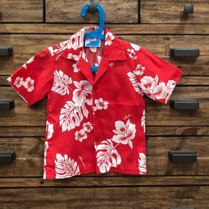 NWOT Ioana Boy's Vintage Hawaiian Red Top - 4T